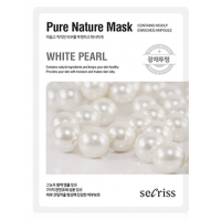 Маска для лица тканевая с жемчугом Anskin Secriss Pure Nature Mask Pack White Pearl