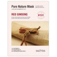 Маска для лица тканевая с красным женьшенем Anskin Secriss Pure Nature Mask Pack Red Ginseng