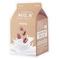 Маска тканевая с кофе и молочными протеинами Apieu Coffee Milk One Pack