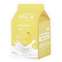 Маска тканевая с бананом и молочными протеинами Apieu Banana Milk One Pack