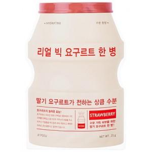 Маска тканевая йогуртная с клубникой A'pieu Real Big Yogurt One Bottle Strawberry