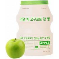 Маска тканевая йогуртная с яблоком A'pieu Real Big Yogurt One Bottle Apple