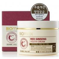 Крем для молодости кожи с красным женьшенем Biomax Red Ginseng Youth Cream