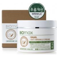 Крем для лица против морщин с муцином улитки Biomax Snail Anti Wrinkle Cream