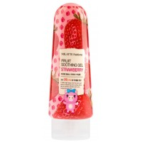 Гель для лица и тела с экстрактом клубники Milatte Fashiony Fruit Soothing Gel Strawberry