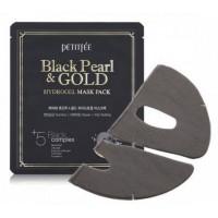 Маска гидрогелевая черный жемчуг и золото Petitfee Black Pearl Gold Mask