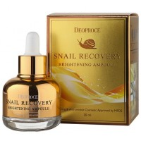 Сыворотка на основе муцина улитки Deoproce Snail Recovery Brightening Ampoule