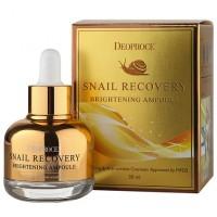 Сыворотка на основе муцина улитки Deoproce Snail Recovery Brightening Ampoule (дефект коробки)