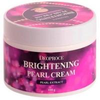 Крем питательный с экстрактом жемчуга Deoproce Brightening Pearl Cream