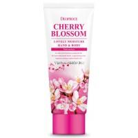 Крем для рук и тела цветущая вишня Deoproce Moisture Hand Body Cherry Blossom