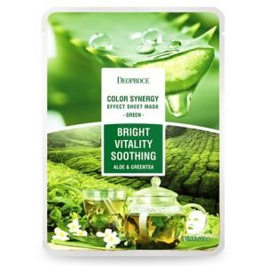 Маска тканевая с экстрактом алоэ и зеленого чая Deoproce Sheet Mask Green Tea