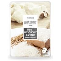 Маска тканевая на основе масла ши и рисовой воды Deoproce Sheet Mask White