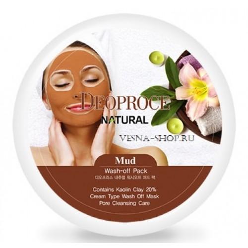 Маска для лица глиняная Deoproce Mud Wash Off Pack