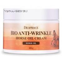 Биокрем против морщин с лошадиным жиром Deoproce Bio Anti Wrinkle Horse Cream