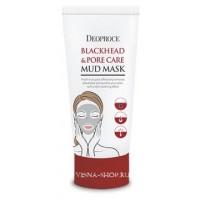 Маска грязевая сужающая поры Deoproce Blackhead Pore Care Mud Mask