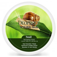 Крем для лица и тела с муцином улитки Deoproce Natural Skin Snail Nourishing Cream