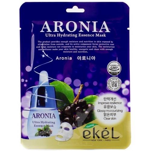 Маска для лица тканевая с экстрактом черноплодной рябины Ekel Aronia Ultra Hydrating Essence Mask