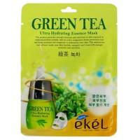 Маска для лица тканевая Зеленый чай Ekel Green Tea Ultra Hydrating Essence Mask