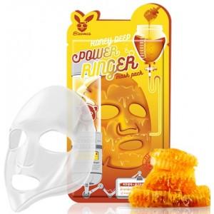 Маска тканевая медовая Elizavecca Honey Deep Power Ringer Mask Pack