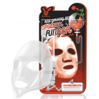 Маска тканевая с красным женьшенем Elizavecca Red Ginseng Mask