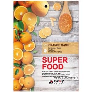 Маска тканевая с апельсиновым маслом Eyenlip Super Food Orange Mask