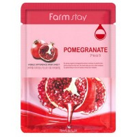 Маска для лица с экстрактом граната FarmStay Visible Difference Mask Sheet Pomegranate