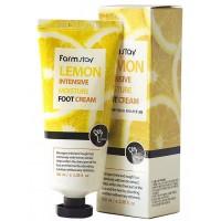 Интенсивно увлажняющий крем для ног с экстрактом лимона FarmStay Lemon Intensive Moisture Foot Cream