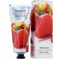 Крем для рук с экстрактом клубники Farmstay Hand Cream Strawberry