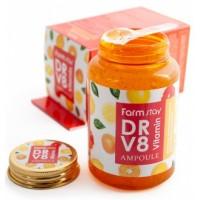 Сыворотка ампульная витаминная FarmStay DR-V8 Vitamin Ampoule