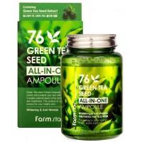 Сыворотка ампульная с экстрактом семян зеленого чая Farmstay Green Tea Ampoule