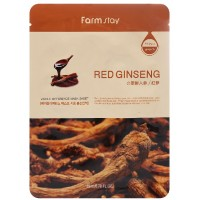 Тканевая маска с женьшенем FarmStay Visible Difference Mask Sheet Red Ginseng