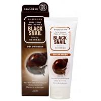 Очищающая маска-пленка с муцином черной улитки Jigott Pure Clean Peel Off Pack Black Snail