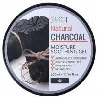 Увлажняющий успокаивающий гель с древесным углем Jigott Natural Charcoal Moisture Soothing Gel