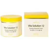 Энергетический ампульный крем для лица Jigott Vita Solution 12 Synergy Ampoule Cream