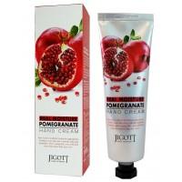 Крем для рук с экстрактом граната Jigott Real Moisture Pomegranate Hand Cream