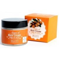 Крем для лица насыщенный с аргановым маслом Jigott Rich Cream Argan Oil Extract
