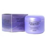 Питательный ночной крем с коллагеном Jigott Collagen Healing Cream