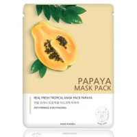 Маска тканевая с экстрактом папайи JNN-II Real Fresh Tropical Mask Papaya