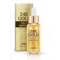 Сыворотка для лица ампульная с 24К золотом JNN-II 24K Gold Halo Ampoule