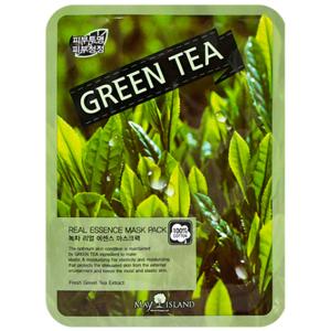 Маска тканевая с экстрактом зеленого чая May Island Mask Green Tea