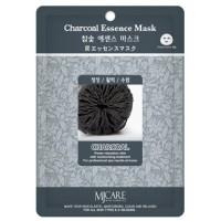 Маска тканевая с древесным углем Mijin Charcoal Essence Mask