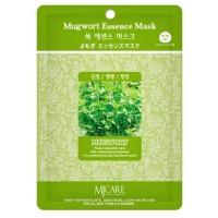 Маска тканевая с экстрактом полыни Mijin Mugwort Essence Mask