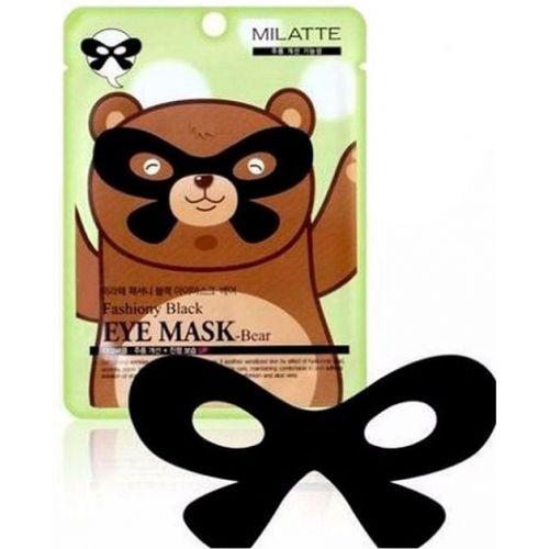 Маска от морщин вокруг глаз Milatte Fashiony Black Eye Mask Bear (годен до: 18.04.2021)