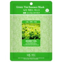 Маска тканевая с экстрактом зеленого чая Mijin Green Tea Essence Mask
