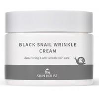 Крем для лица антивозрастной с муцином улитки The Skin House Black Snail Wrinkle Cream